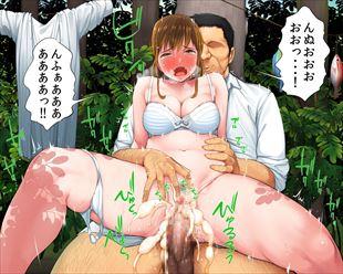 【エロ漫画】いじめっ子の女とキモ男が無人島に二人っきりで…