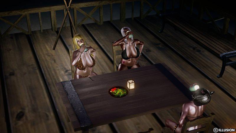 【ハニーセレクト】仲良しギャル三人組!夏のバカンスのエロ画像1