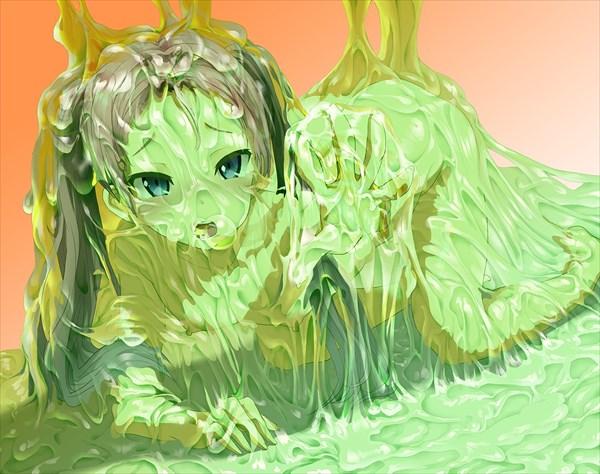 粘液と女の子のエロ画像