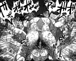 【閲覧注意・ロリ鬼畜リョナ・レイプ】性病持ちの浮浪者集団がJSをボッコボコにして鬼畜レイプするエロ漫画がヤバイ…