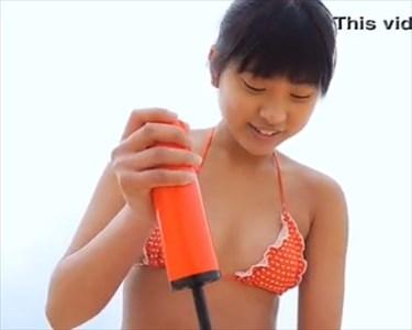 【動画】沖田彩花ちゃんがシコシコと空気を入れてる