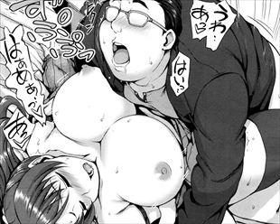 【エロ漫画】キモ男がオナペットにしていた女が寝取られ属性だったので役得セックスできた…