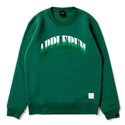 APPLEBUM-GRADATION-LOGO-CREW-SWEAT-GREEN-BLOG1