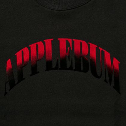 APPLEBUM-GRADATION-LOGO-CREW-SWEAT-BLACK-BLOG5