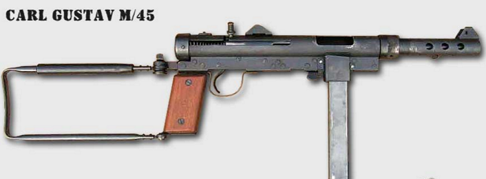 スウェーデン陸軍の標準的な短機関銃として採用されていたカールグスタフ M/45とは                         コメント