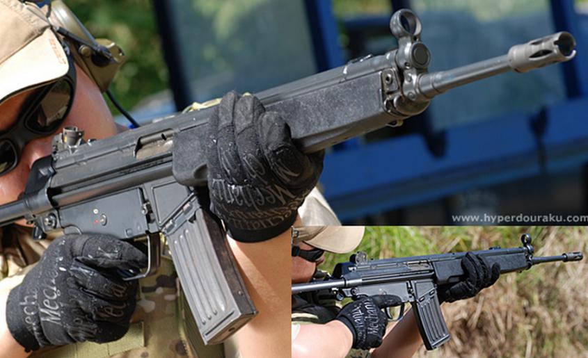 H&K G3をスケールダウンし5.56x45mm NATO弾を使用できるように再設計されたアサルトライフル H&K HK33とは                         コメント