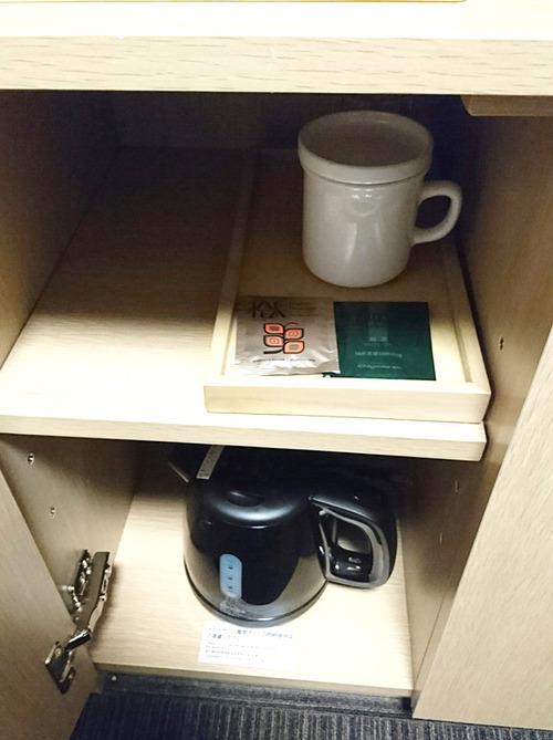 熊本ルートイン_ポットとお茶