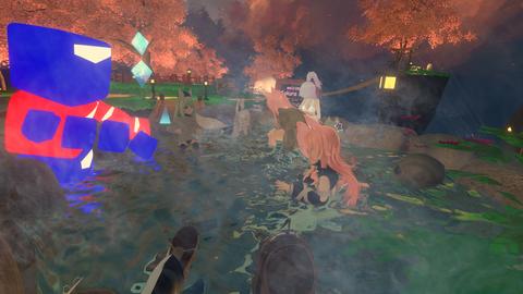 ダスモ集会謎の力で突如出現した温泉