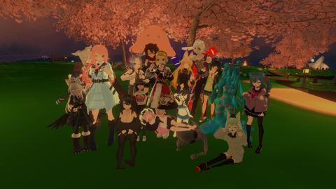 ダスモ集会、最後居るメンバーで集合SS