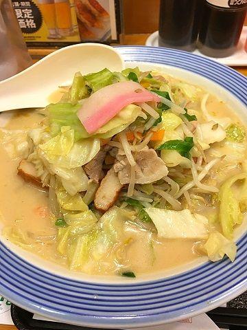 リンガーハットの野菜たっぷりちゃんぽん@赤坂