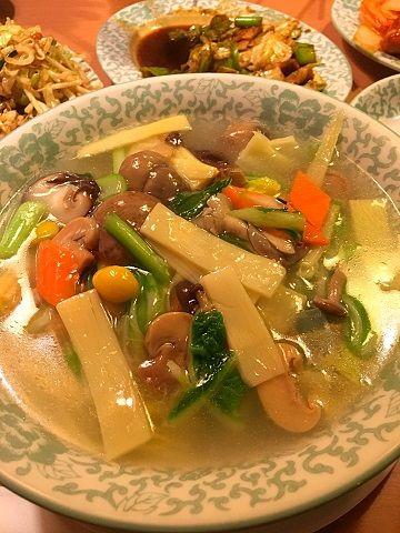鴻運楼の野菜そば@赤坂