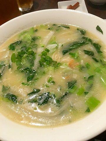四川雅園の白湯麺@赤坂