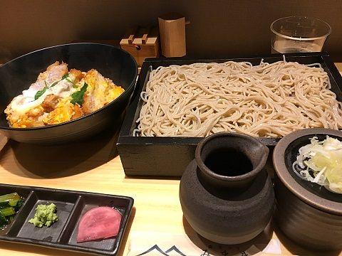 蕎麦きり みまきのロースかつ丼セット@赤坂