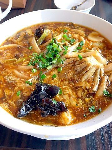 白碗竹快樓の牡蠣ときのこのダールー麺@赤坂