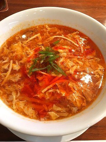 榮林の酸辣湯麺@赤坂