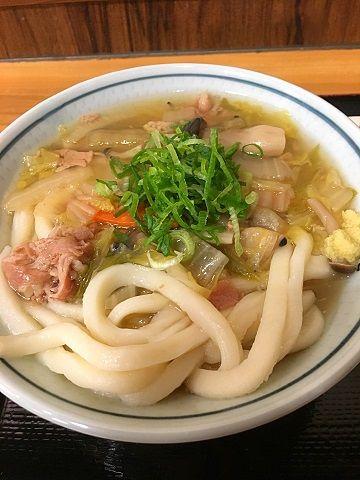 たもん庵の野菜あんかけうどん@赤坂