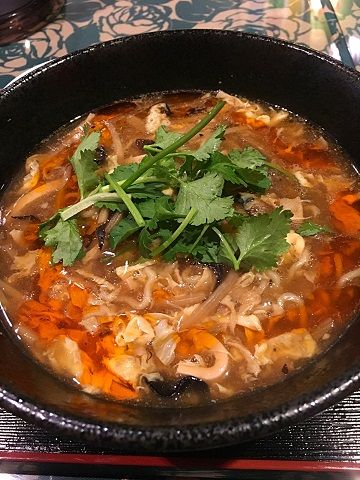 アメミヤサンラーの黒酸辣湯麺@赤坂