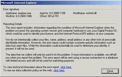 ie6でmsnニュースがクラッシュする人は脆弱性あり windows 2000 blog