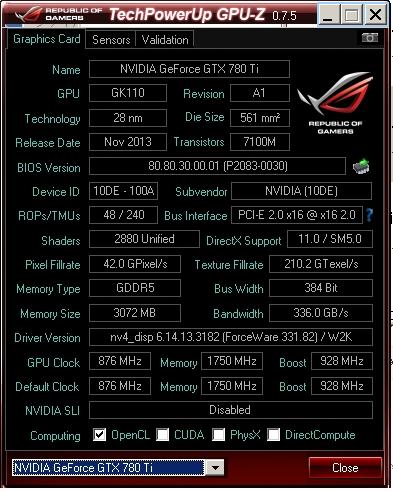 nVIDIA Inspector と GPU-Z with skin v0 75 を使ってみた - Windows