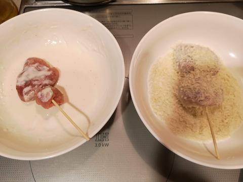豚ヒレ肉の串カツ (5)