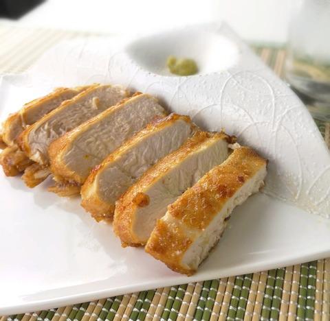 鶏むね肉の丸揚げ焼き (1)