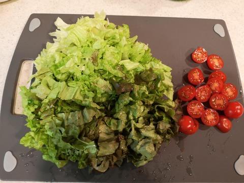 鯵のサラダ丼 (2)