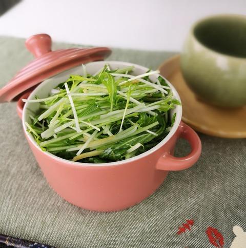 水菜のハリハリサラダ (1)