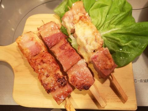 ベーコンのチーズ串焼き (8)