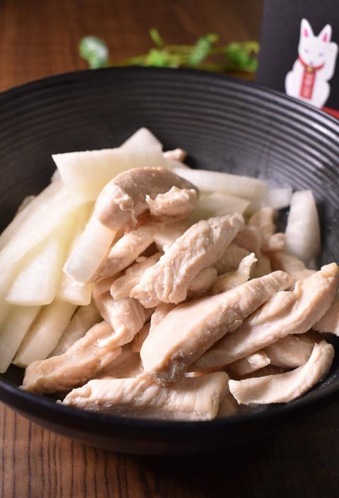 鶏むね肉と大根の純白炒め (1)