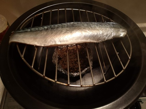 炙り燻製締め鯖 (4)
