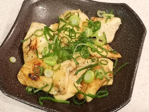 鶏むね肉のねぎゴマソテー (1)