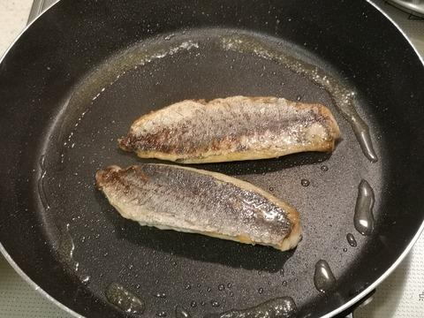 鯵のバター醤油パスタ (4)