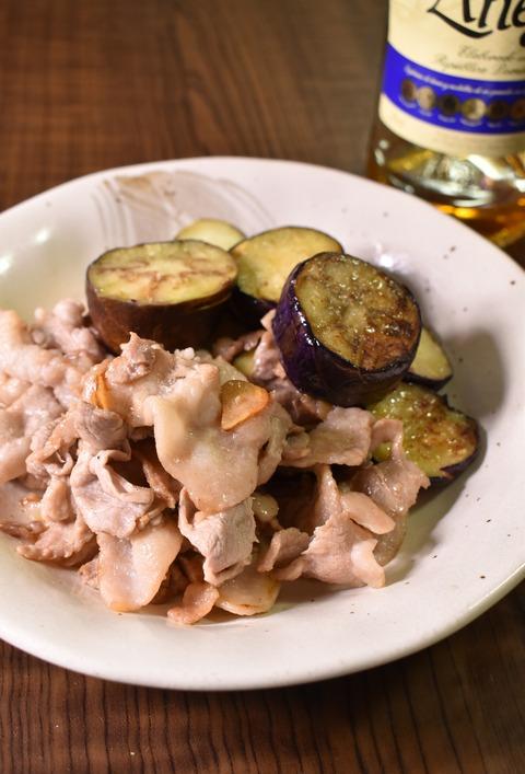 豚肉と茄子の塩レモン炒め (1)
