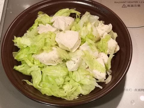鶏むね肉の茹でサラダ (7)