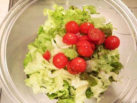 鯵のサラダ丼 (3)