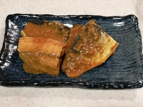 鯖のにんにく味噌煮 (8)