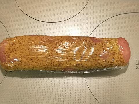 豚ヒレ肉の粒マスタード焼き (3)