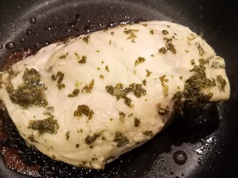 鶏むね肉のミントソテー (5)