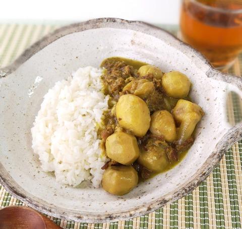 里芋と牛肉のカレー (1)