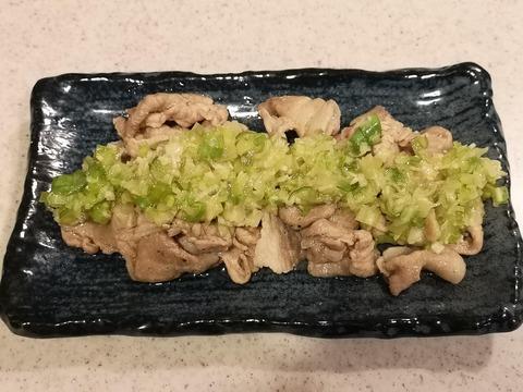 豚肉塩炒めねぎダレ (6)