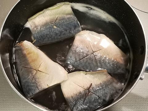 塩茹で鯖 (4)