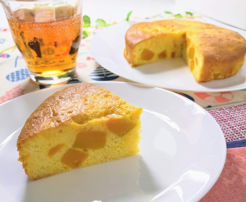 蜜漬けカボチャの蜜ケーキ (1)