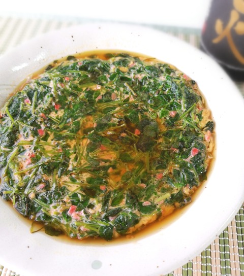 豆苗煮卵 (1)