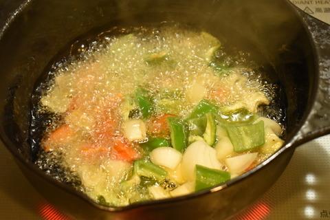 牛肉と揚げ野菜のオイスターソース炒め (4)
