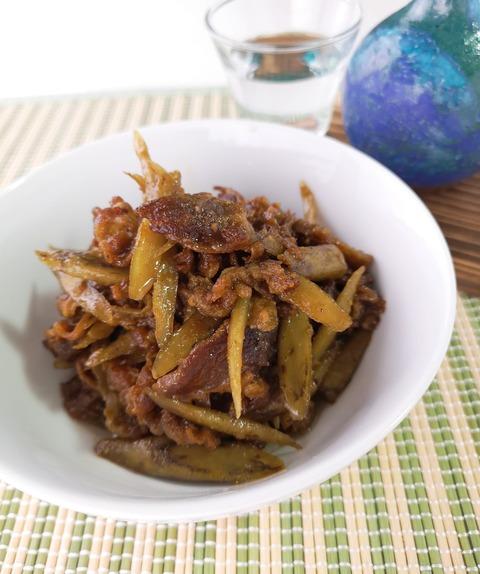 牛肉とゴボウの味噌佃煮 (1)