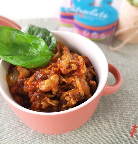 豚こま肉のトマト煮込み (1)