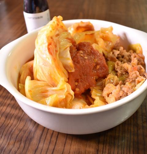 たっぷりキャベツと牛肉のトマト煮込み (1)