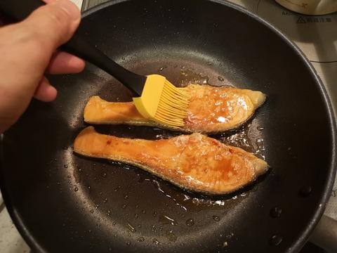鮭の照焼き (5)