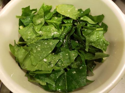 ほうれん草のボールサラダ (3)