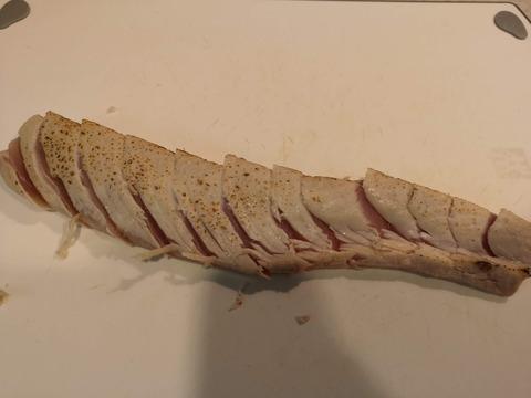 ビンチョウマグロの炙りカルパッチョ (5)